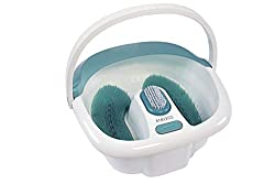 One of the Top 7 foot baths-The HoMedics® Pedicure Spa Footbath With Heat gives your feet a soothing bubble foot massage with rejuvenating water jets for total relaxation