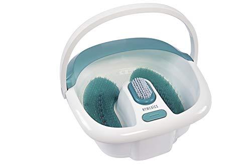 HoMedics Bubble Spa Elite Footbath, 2-in-1 removable pedicure center, Toe-touch control, Easy tote handle no-splash, FB-450H