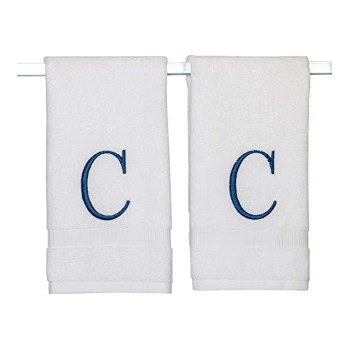 Toallas de mano para baño con monograma – Calidad de hotel de lujo personalizada inicial decorativa bordado toalla de baño para...