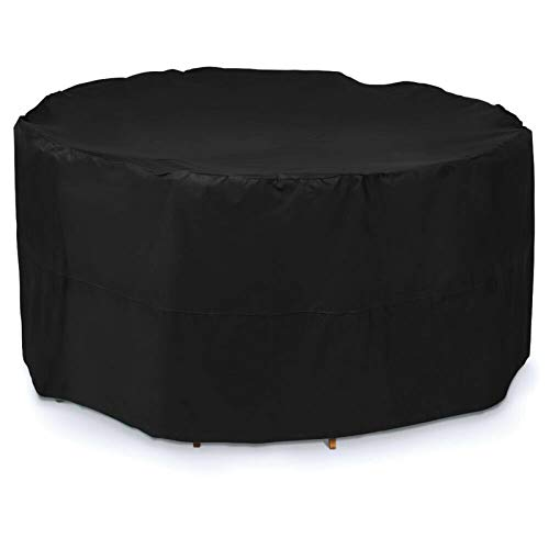 Patio Furniture Covers Round64x33in, Garden Furniture Covers Waterproof, Furniture Covers for Outdoor Seating Large, Water Resistant Fabric, Anti-UV, for All Weathers