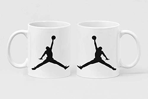 Taza de Jordan - Basket - Taza deportiva - Taza Mug - The Story Basketball - Leggenda Jordan - Nueva colección - Cocinación - Café - Chocolate - Chocolate - Regalo - Navidad - Novedad - Escarchada