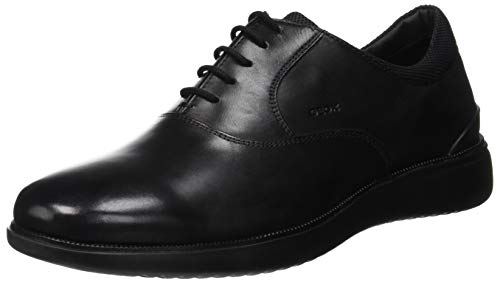 Geox U Winfred A, Scarpe Stringate Oxford Uomo, Nero (Black C9999), 42 EU