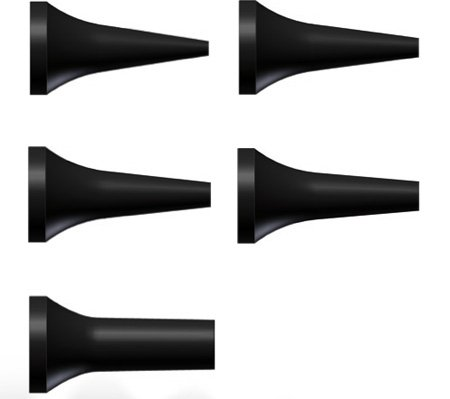 Riester 10795 Trichter wiederverwendbar für ri-scope L1/L2, pen-scope, Durchmesser 5 mm, Schwarz (10-er pack)