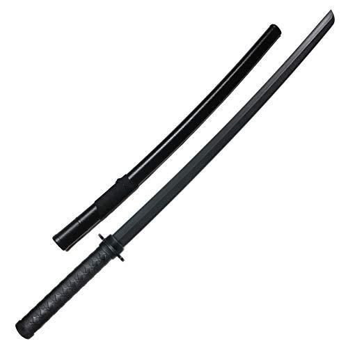E-BOGU Polypropylene Practice Sword Wooden Katana Style (38.5') with Black Saya Scabbard