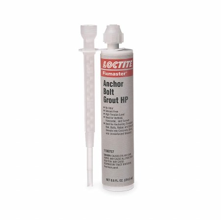 Loctite Fixmaster Gray Two-Part Epoxy Adhesive - Gray - 8.6 fl oz Cartridge - Tensile Strength 3080 psi [Price is per Each]