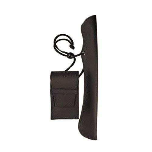 フカシロ 叺(かます) キセル用提げ物 腰提げ ロング ブラウン 18011304 29cmまで対応 煙管 きせる 袋