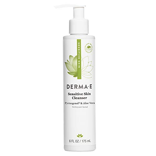 DERMA E Sensitive Skin Cleanser – Pycnogenol and Aloe infused - Fragrance Free – Gentle Hydrating Facial Cleanser for Sensitive Skin