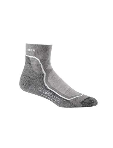 Icebreaker Herren Wandersocken Hike plus Light Mini, Fossil/White/Monsoon, XL, 100327