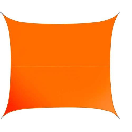ZHU Sun Shade Sail, Giardino, Patio, Gazebo Party Sunscreen Canopy 98% Protezione UV, Personalizzabile (Color : Orange, Size : 5x5m)