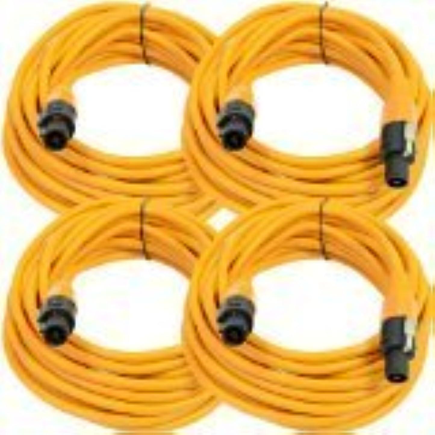 くしゃみ最初は継承Seismic Audio TW12S25Orange-4Pack Four Pack of 12 Gauge 25-Feet Orange Speakon to Speakon Speaker Cable [並行輸入品]