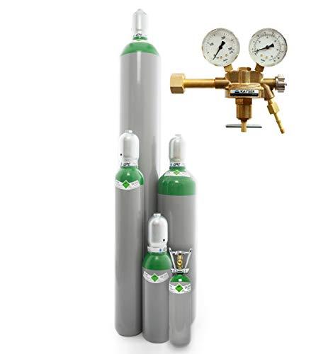 Argon 4.6 Gasflasche (Eigentumsflasche), gefüllt mit Schweißargon (Reinheit 99,996%) (Druckminderer