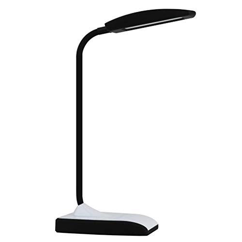 Lámpara de mesa regulable táctil lámpara de mesa con cuello flexible 2 modos de color de iluminación
