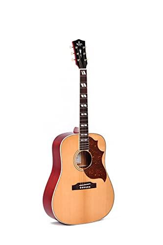 Sigma guitars SDM-SG6 Custom Acoustic Guitar Natural with Soft Case