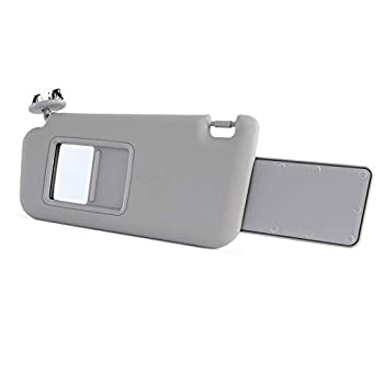 Orion Motor Tech Driver Side Gray Sun Visor Compatible with Toyota RAV4 2006/07/08/09/10/11/12/13 with Sunroof
