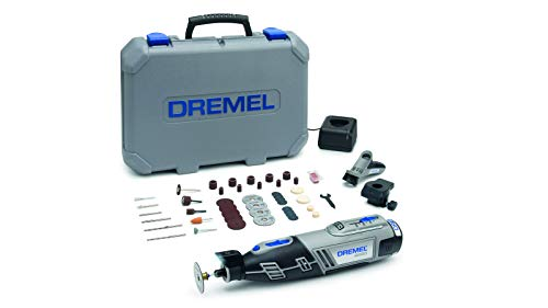 Dremel 8220 Cordless Rotary Tool 12 V, Multi Tool Kit with 2 Attachments,45 Accessories, Lithium-Ion 2.0 Ah Battery, LED Light, Speed 5000-35000 rpm for Carving, Engraving,Cutting,Sanding,Grinding
