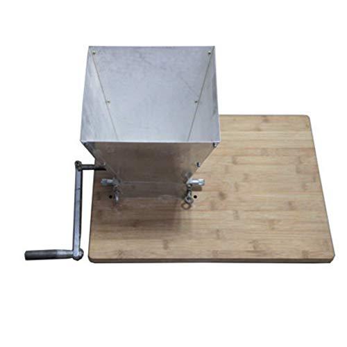 RBH Trituradora de Malta, Molino de Malta de 2 Rollos trituradora de Granos caseros, trituradora de Cebada Ajustable manualmente, Base de Madera, Hecha de Metal, Adecuada para moler