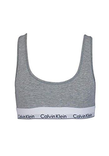 Calvin Klein Damen Bralette Dreieck BH, Grau (Grey Heather 020), (Herstellergröße: XL)