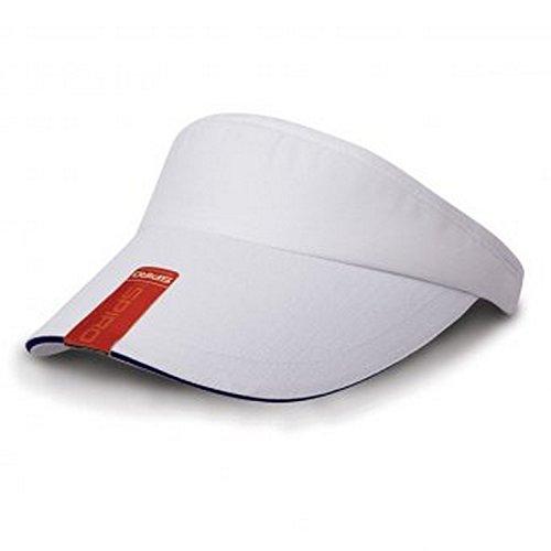 Result Headwear Visière à Rebord en Contraste - Adulte Unisexe (Taille Unique) (Blanc/Bleu Marine)