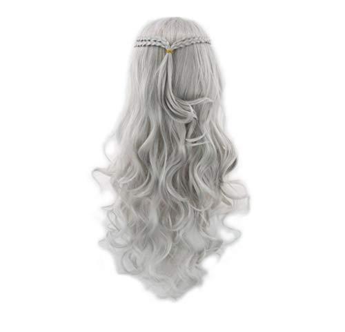 Damen Perücken Blonde Lange lockige Haare für Danielis Targaryen Khaleesi Cosplay Halloween Kostüm Perücke