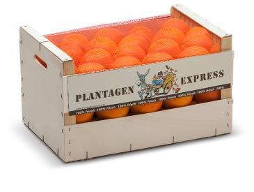 Speiseorangen direkt importiert aus Spanien, Premiumqualität, frisch und saftig, 15kg Plantagen Express