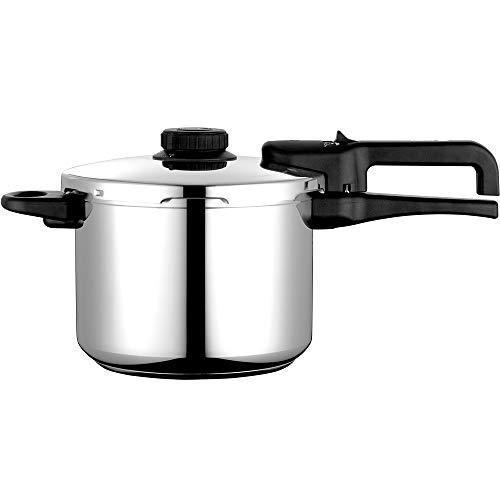 Olla a presión FAGOR DUAL XPRESS. Olla express acero Inoxidable y aluminio, apta para todas las cocinas gas, vitroceramica, INDUCCIÓN y lavavajillas. Fondo Termodifusor (8L)