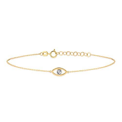 Gelin Bracelet pour femme en or jaune 585 véritable 14 carat