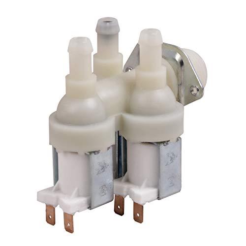 Magnetventil Ventil Ersatz für Miele 1678013 Waschmaschine Zulaufventil 230v 3-fach 90° Ø 10,5 mm für Waschtrockner Ersatzteile