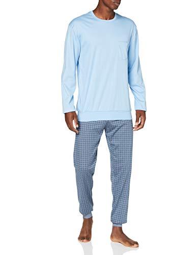 CALIDA Herren Relax Pyjamaset, Placid Blue, XXL