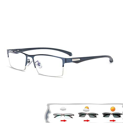 ZYFA Bifokal Lesebrille, Progressive Multi-Power-Mehrfachfokussierung, Multifocus Brillen,Sonne Lesebrille, Selbsttönende Lesebrille mit UV-Schutz,Brille mit Tönung