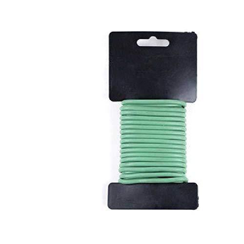 IMAGINE Plant Support Zachte draad Zwart Wit Groen, Tie Wire, Plant Vaste Ondersteuning Apparaat 4.8mm * 5m roll/Groen