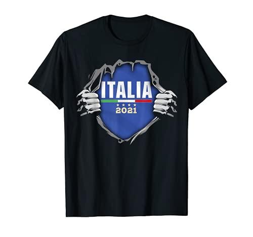 Italia Calcio italiani la bandiera Nazionale Italiana 2021 Maglietta