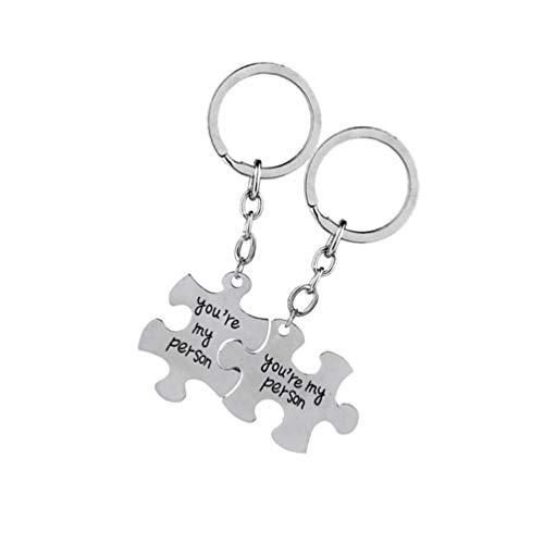 """WINOMO, set di 2 portachiavi a forma di puzzle con la scritta """"You Are My Person"""", adatti come regalo di San Valentine's Day"""