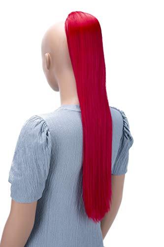 PRETTYSHOP 65cm Haarteil Zopf Pferdeschwanz Haarverlängerung Glatt Rot PH616