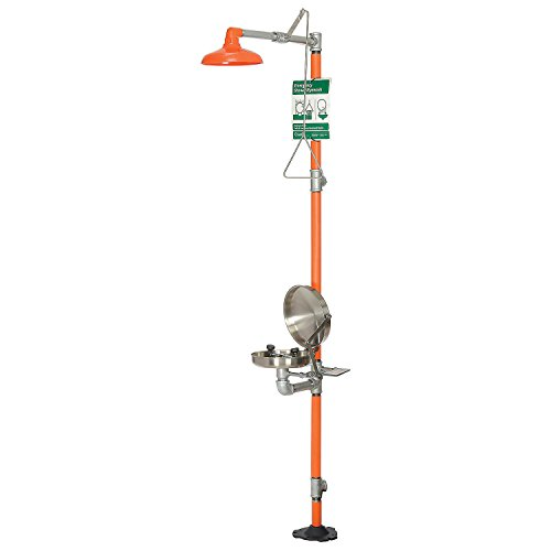 Guardian Equipment G1902BC Safety Station with Eye Wash Stainless Steel Bowl and Cover