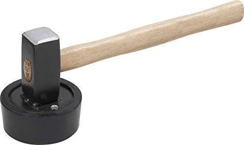 Meister 2246500 Plattenverlegehammer/erbauhammer mit vulkanisiertem Gummikopf, 2050 g