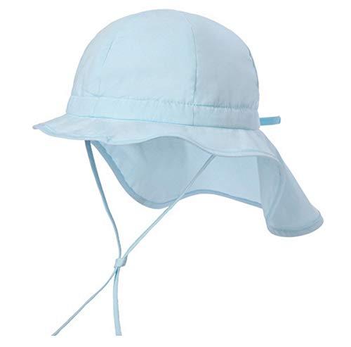 Licus Baby Kinderhut Fischerhut Nackenschutz Sonnenhut Sommerhut Sonnenschutz UV-Schutz Hellblau 3-6 Jahre