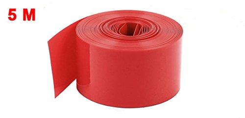 『uxcell Assisi PVC熱収縮チューブ 5Mロング 23mm レッド AA電池用 ラップスリーブシュリンク』の1枚目の画像