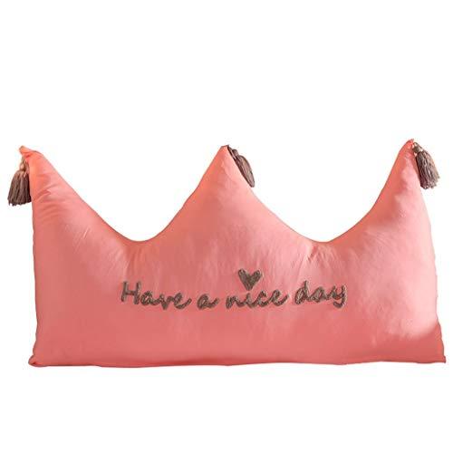 Cojín con Forma de Cuña Corona Cabecera del amortiguador cama de princesa del viento lavable almohada trasera grande Sofá Cama de la almohadilla amortiguador trasero (color sólido) Almohadas d