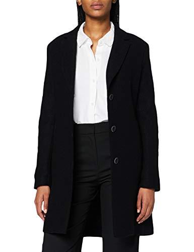 Bugatti Damen 661400-64088-290 Wollmischungs-Mantel, schwarz, 40