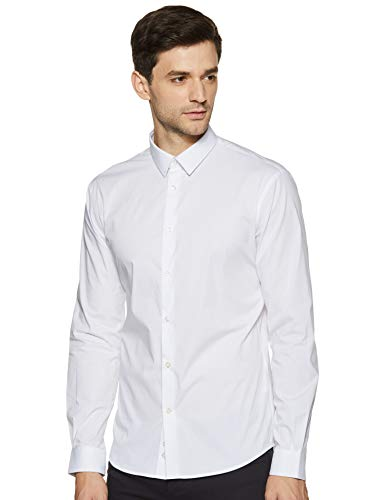 Celio MASANTAL1, Chemise Slim coton stretch, Homme, Blanc (Blanc), Medium