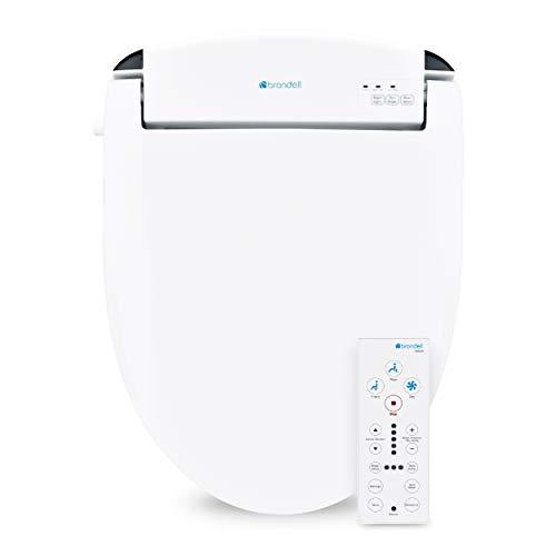 Brondell Swash SE600 Bidet Toilet Seat, Fits Round Toilets, White – Bidet – Oscillating Stainless-Steel Nozzle, Warm Air Dryer, Ambient Nightlight