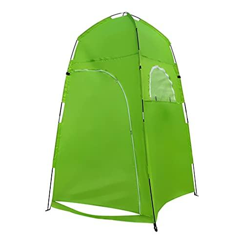 RHNE Multifuncional y Conveniente Ducha al Aire Libre Vestuario Carpa de Tela de poliéster Playa Carpa Duradera Camping Playa Verde 120 * 120 * 210 cm