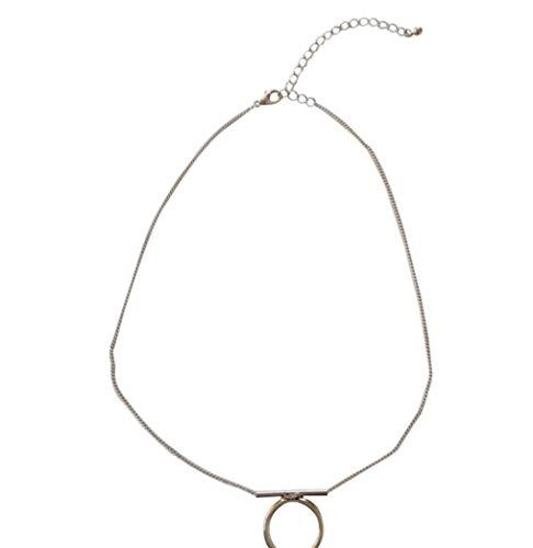 FOR TMT Collar Moda Textura De Metal Salvaje Hermosa Cadena De Clavícula del Ventilador Uso Diario Accesorios Hermosos para El Cuello Collar Simple Regalo
