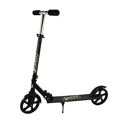 Best Sporting Scooter 200er Rolle klappbarer Kinderroller mit Ständer, schwarz