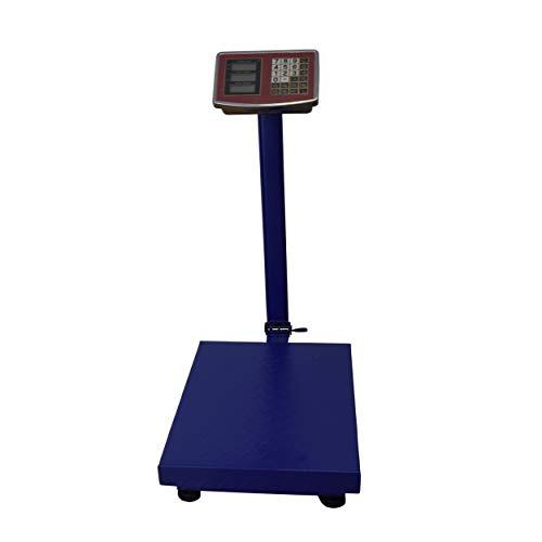REPLOOD Bilancia Bilico Digitale Elettronica Professionale Con Display 40x50x75cm Colore Blu Bilancia Industriale Per Utilizzarla in Negozio Casa Azienda (300Kg)