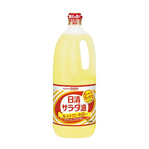 日清オイリオ サラダ油1500g ペットボトル x10本 (1ケース)