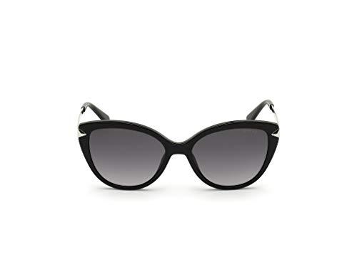Guess GU7658 01C Shiny Black GU7658 Cats Eyes Sunglasses Lens Category 3 Size 5