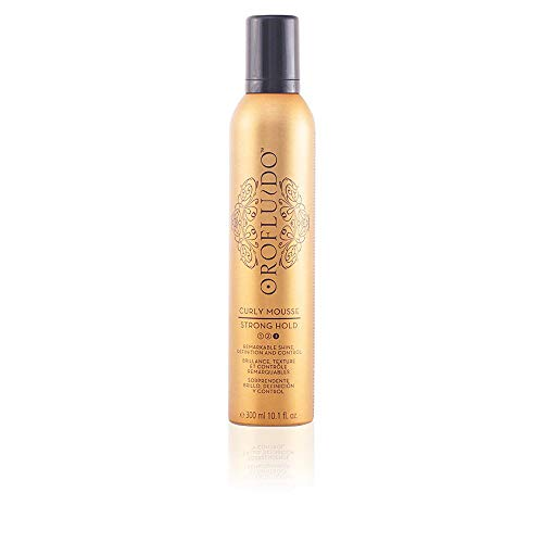 Revlon Orofluido Curly Mousse Strong Hold, Tratamiento Capilar - 300 ml