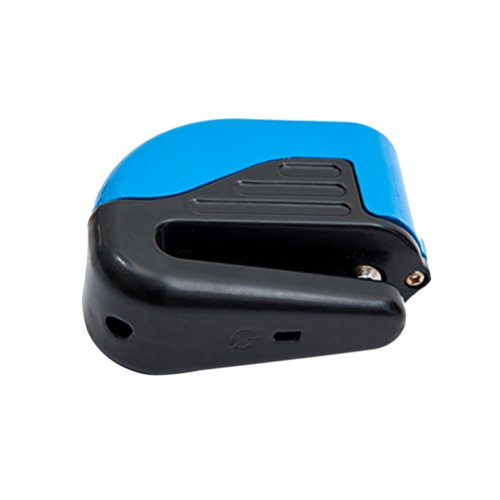 VORCOOL Universal Motorrad Fahrradfelge Scheibenbremse Sperre Sicherheitsalarm Diebstahlschloss (Blau)