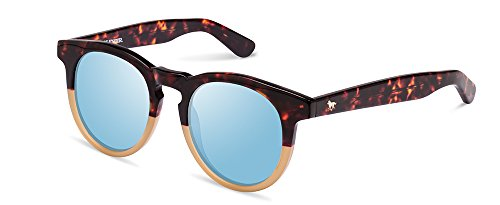 Wolfnoir Hathi Ace Bicome Icon Gafas de sol, Blanco/Azul, 45 Unisex